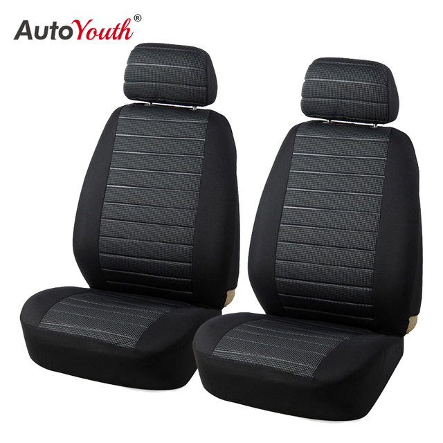 $ US $14.99 AUTOYOUTH Front Car Seat Covers Airbag Compatible Universal Fit Most Car SUV Car Accessories Car Seat Cover for Toyota 3 color