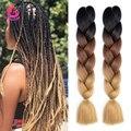 Синтетические плетеные волосы Dream Like, предварительно растягивающиеся Джамбо удлинители волос, 24 дюйма, 100 г, волосы Kanekalon для африканских кос...