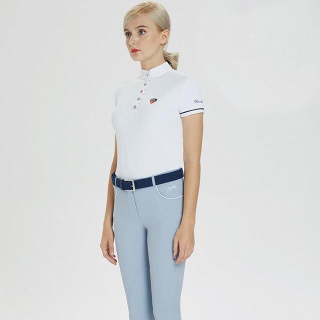 Women's Short Sleeved Equestrian Riding Shirt   3
