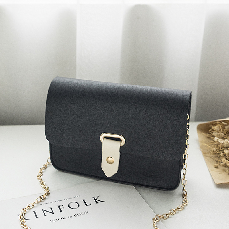 2020 New Women's Small Square Bag Classic Single Shoulder Messenger Bag Fashion Bag Blue Black Color