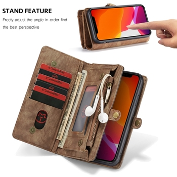 Luxury Leather Flip Case for iPhone 11 Phone Case Wallet Covers Magnetic Business Case For iPhone 11 Pro Max Capa Coque Hoesje 5