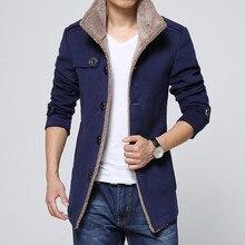 Новинка, Брендовое длинное шерстяное пальто, мужские куртки и пальто, приталенная Мужская ветровка, высокое качество, Тренч, модный,, куртка