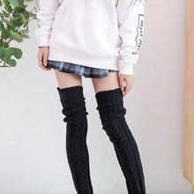 Cartoon Knitting Stocking Lolita Cosplay Loose Socks JK Women Woollen Stockings Girl