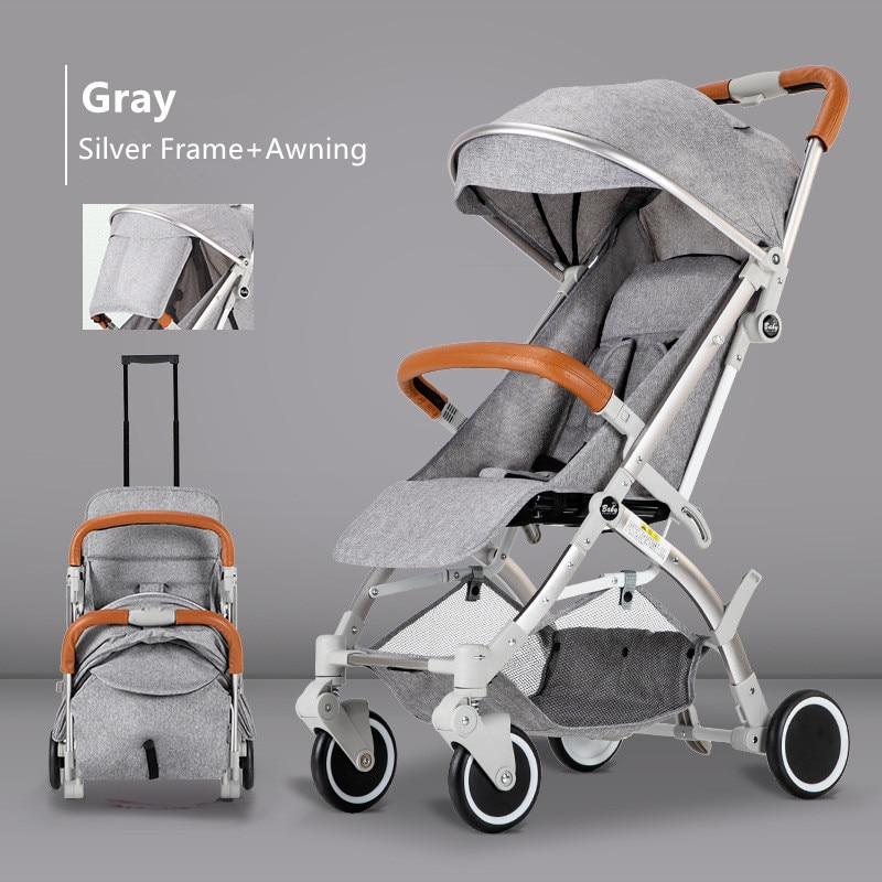 Adjustable Lightweight Luxury Baby Stroller 3 In 1 Folding Portable Hot Mom Pink Stroller Travel Pram Baby Trolley Pushchair