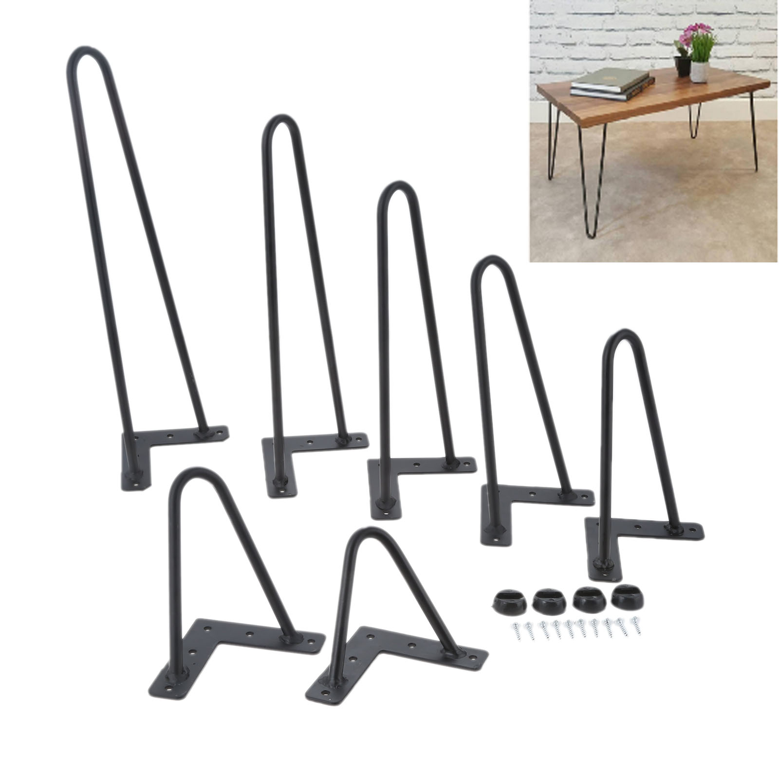 4Pcs Iron Metal Table Desk Legs For DIY Handcrafts Furniture 4/6/8/10/12/14/16inch Sofa Coffee Desk Furniture Kitchen Table Leg