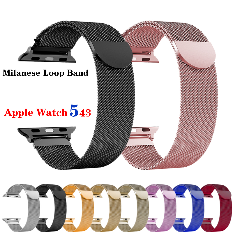 Milanese Loop Strap For Apple Watch band 42mm 38 mm iWatch 4 band 44mm 40mm stainless steel watchband bracelet apple watch 5 4 3 image