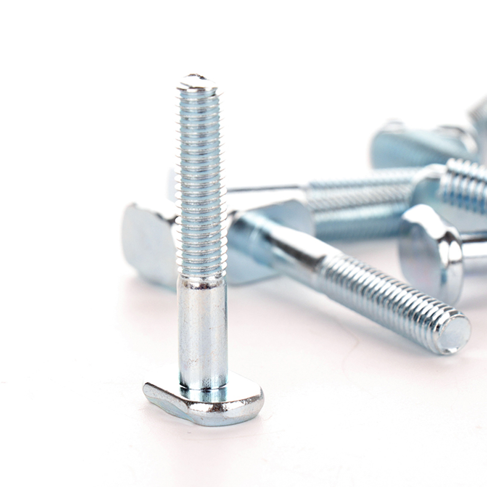 10pcs/set M6x40mm T-Nut Sliding Screws For 30 Series Miter Track T-Slot Woodworking Tool 30 Series T Track T-nuts
