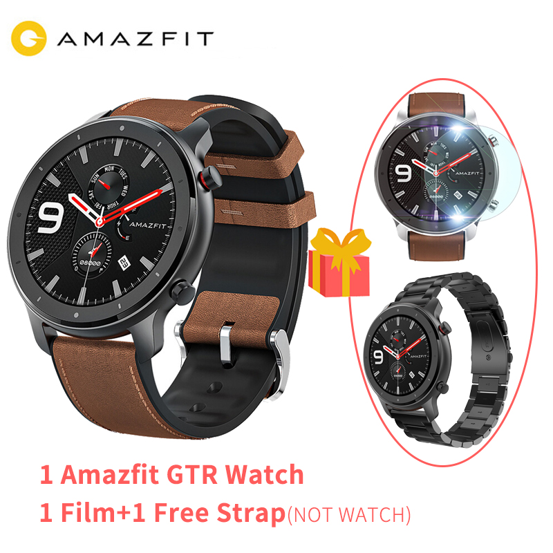 Amazfit Smart-Watch Amoled-Screen Battery-Life Swimming Global-Version Waterproof 50ATM