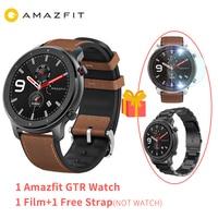 2019 NEW Global version Amazfit GTR Smart Watch 47mm AMOLED Screen 24 Day battery life GPS watch Men 50ATM waterproof Swimming