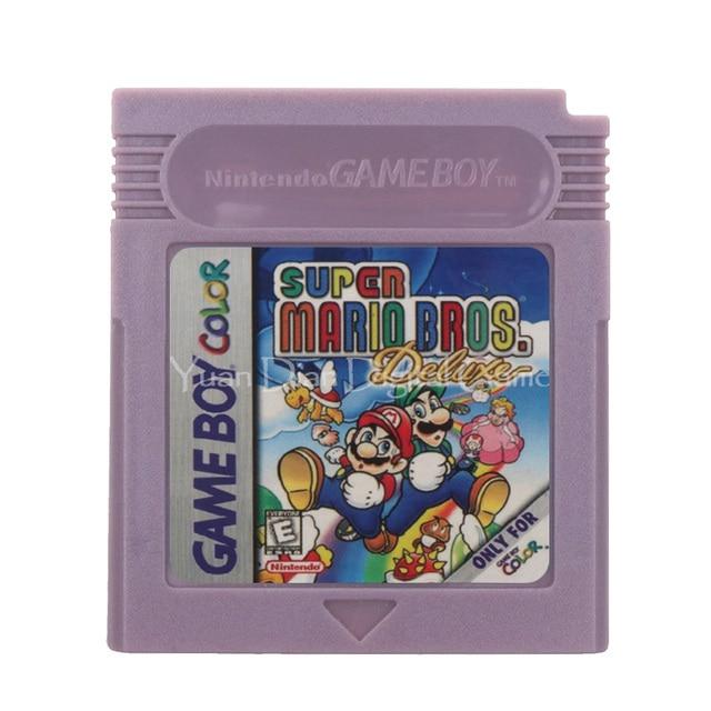 Para Nintendo GBC, Cartucho de videojuego, tarjeta de consola, versión en inglés Super Mari Bros