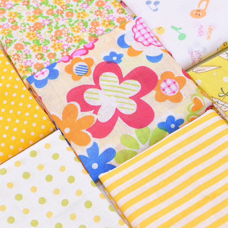8pcs/lot 25x25cm Assorted Floral Pattern Cotton Fabric DIY Patchwork Material for Sewing Accessories Quilting Fabrics DIY Crafts-2