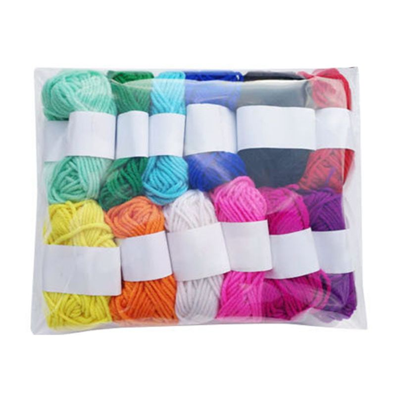 12 Assorted Colors Childrens DIY Manual Knitting Wool Yarn Crochet Acrylic Fiber Line Cord Medium Thick Thread