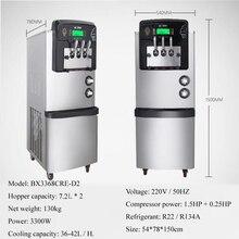 Мягкая машина для мороженого от производителя/Новая промышленная нержавеющая сталь настольная машина мягкое мороженое с 3 ароматами 3000 Вт