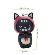 Korean version of the cartoon BB called lovers, cats, cute little black cat car key chain, men and women bags, chain pendant