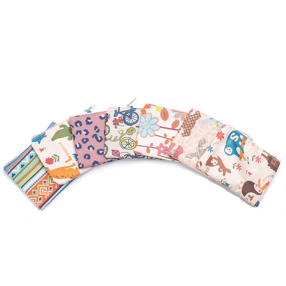 Mulheres Titular do Cartão Bolsa Da Moeda Bolsa Chave Caso Pequeno Simples Retro Mini Saco De Lona Bolsa de Senhora Meninas Zip Moeda Carteira Mudança bolsa