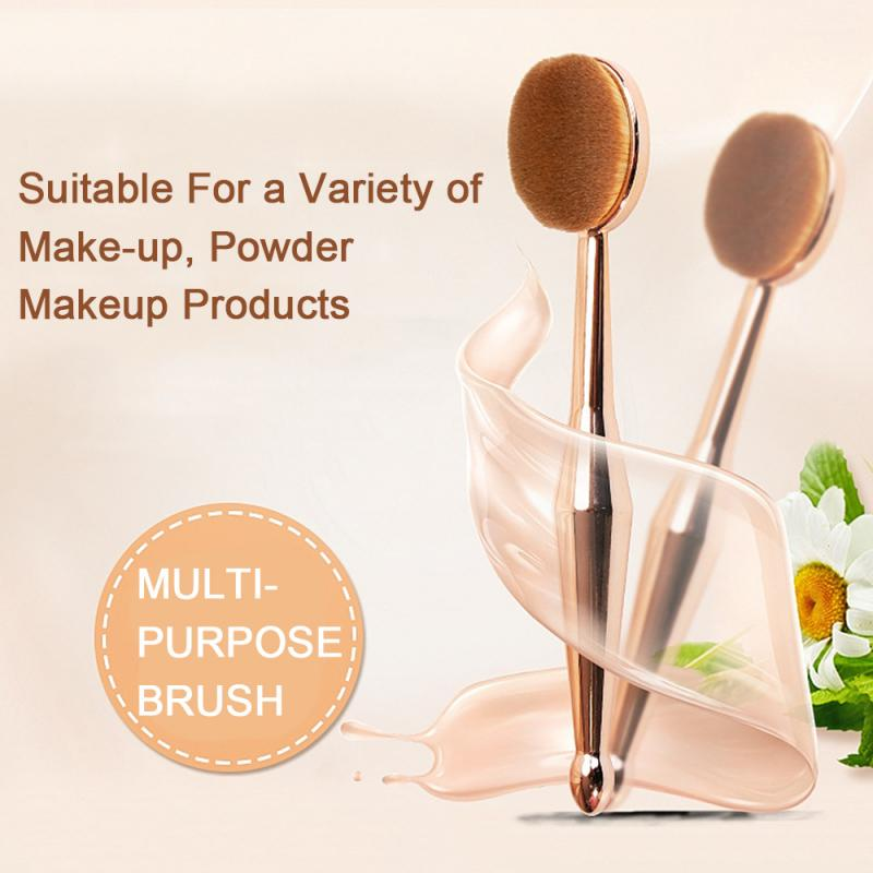 1Pcs Golden Cosmetic Make Up Brush Foundation Cream Powder Blush Concealer Toothbrush Oval Shape Concealer Tools TSLM1