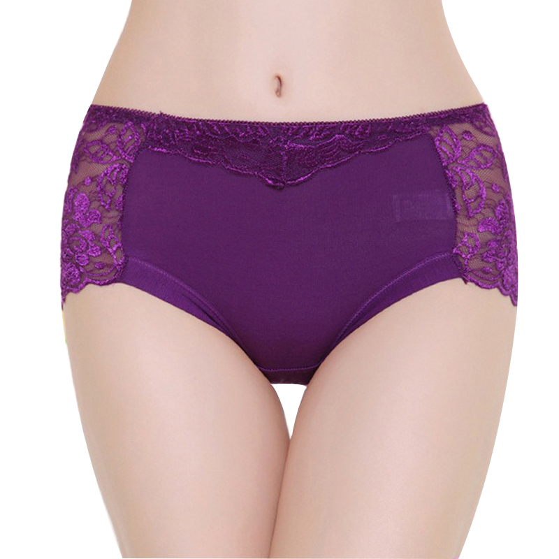 Women's cotton underwear Seamless panties sexy lace embroidered panties Transparent plus size women's intimate underpants