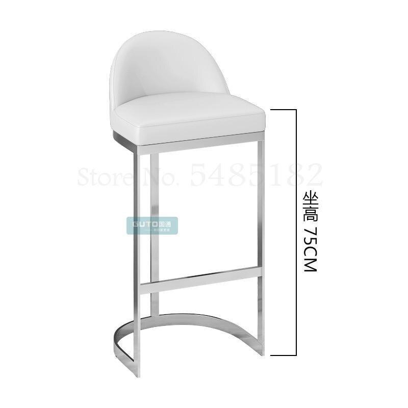 High chair bar stool high stool nordic modern minimalist bar front desk chair golden back bar stool ins