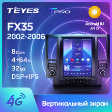 TEYES TPRO For Infiniti FX35 1 2002 - 2006 For Tesla style screen Car Radio Multimedia Video Player Navigation No 2din 2 din dvd