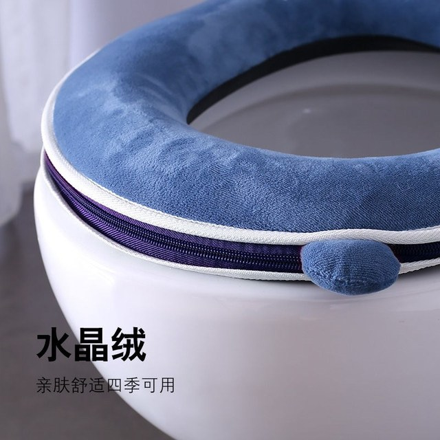 Universal plush Toilet Cushion Household Warm Soft Thicken Toilet Seat Cover Winter Waterproof WC Mat Bathroom Products 2