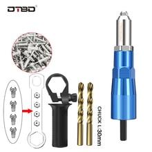 цена на Electric Rivet Gun 2.4mm-4.8mm rivet nut drill adapter riveting tool Insert Nut Tool with100PC rivet