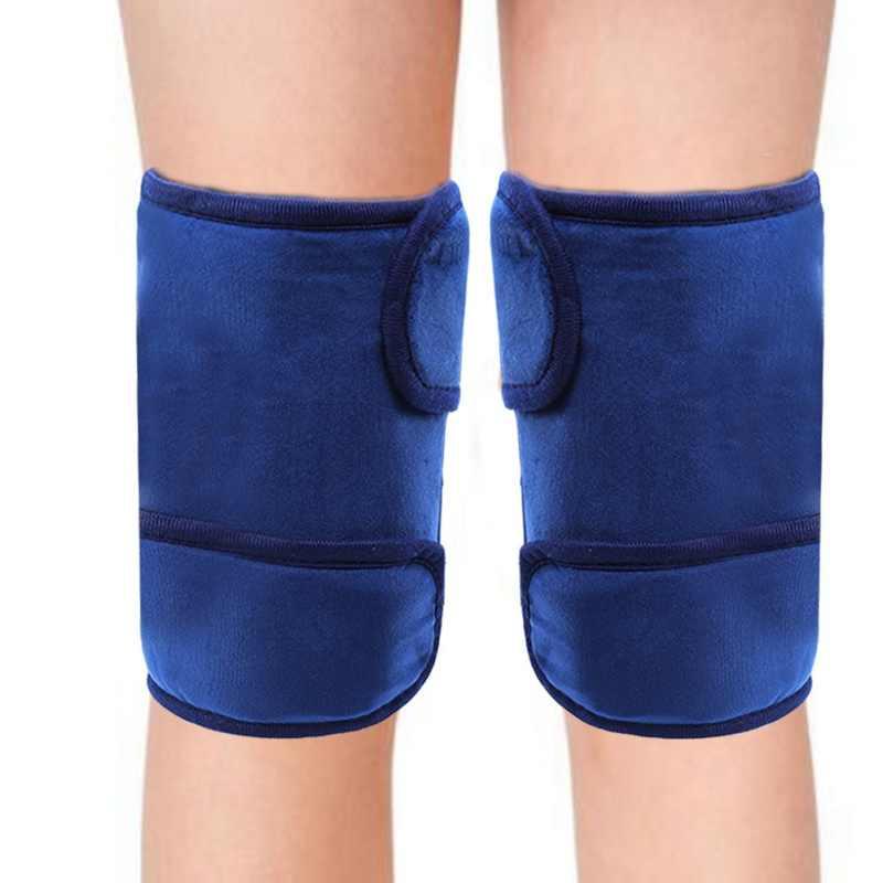 Dipanaskan Rasa Sakit Lutut Brace Mode Pemanasan Thermostat Bantalan Pemanas untuk Menghilangkan Radang Sendi Pemulihan Baru