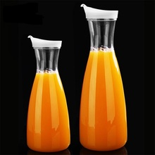 1.6L Capacity Acrylic Fruit Juice Milk Pot Bar Party Wine Beer Bottle Beverage Cold Water Kettles Anti-fall Water Pitcher Jug