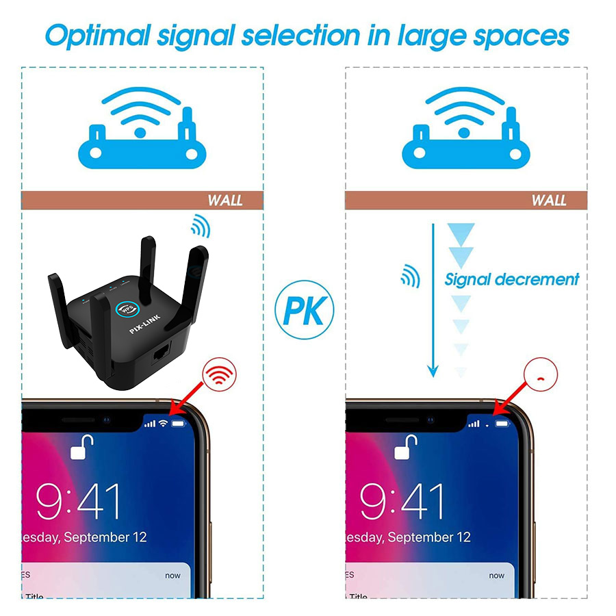5G Wifi Repeater 5ghz Repeater Wifi 1200M Router Wifi Extender Long Range 2.4G Wi Fi Booster Wi-Fi Signal Amplifier Access Point 3