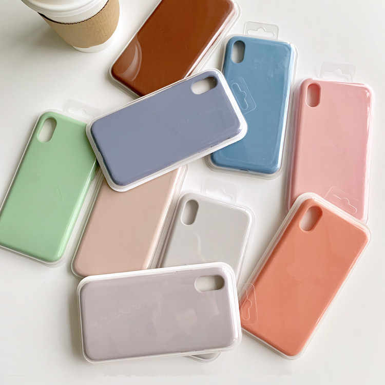 Candy Silicone Liquid Case for IPhone X XS MAX XR Case for IPhone 6s 6 7 8 Plus Soft Tpu Back Cover Solid Colors Fundas