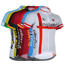 Countries 2020 Collection Men's Summer Cycling Jersey Short Sleeve Breathable Qucik Dry Bicycle Clothing