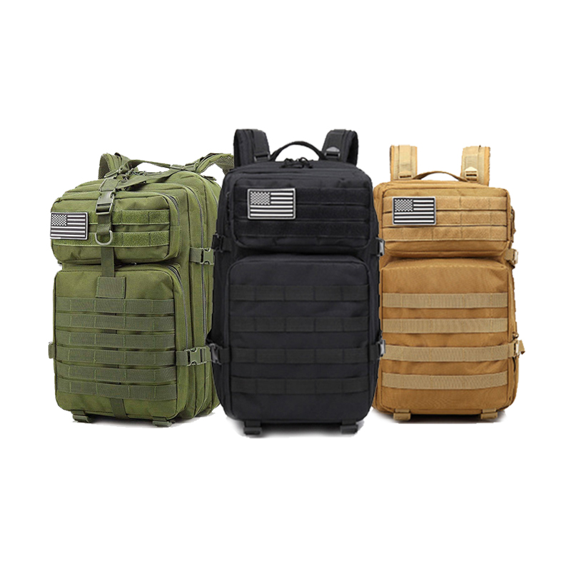 50L Large 3P Nylon Tactical Backpack Outdoor Waterproof Military Bag Hiking Hunting Backpacks Travel Cycling Camping Bags