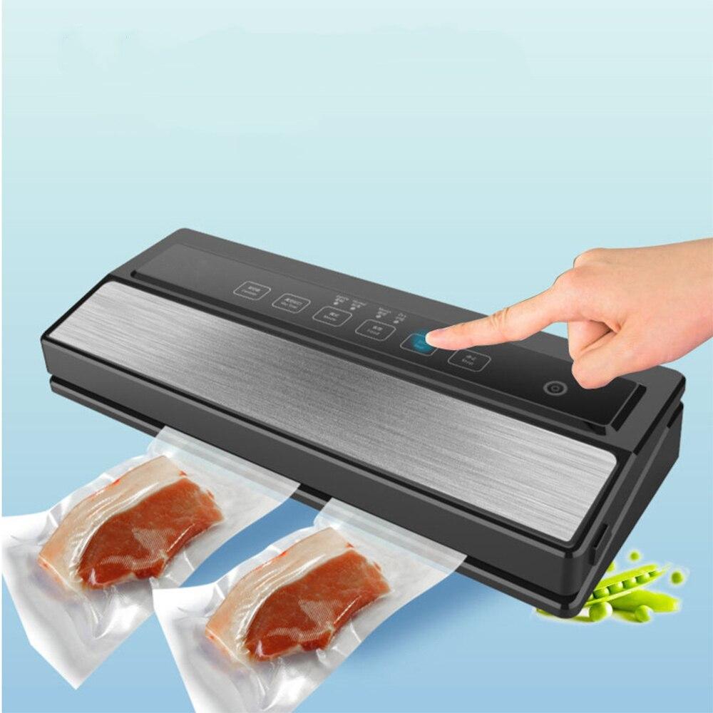 Портативная Съемная полностью автоматическая вакуумная упаковочная машина для пищевых продуктов, бытовая упаковочная машина для влажной и сухой упаковки с сумками 5 шт.|Вакуумные упаковщики|   | АлиЭкспресс