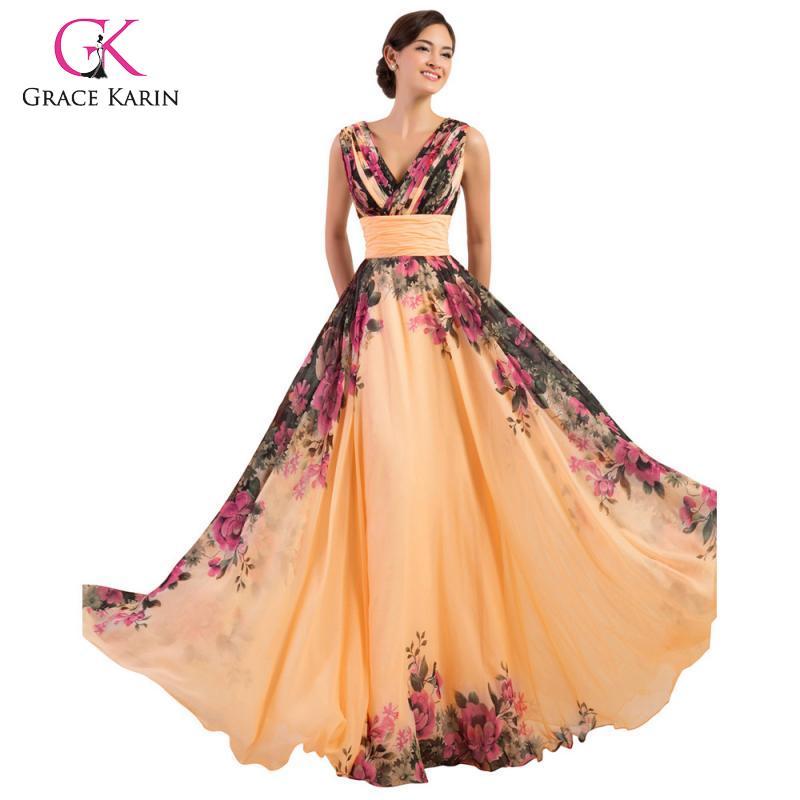 GRACE KARIN Vestido Elegante de Patchwork de Encaje para Fiesta Boda