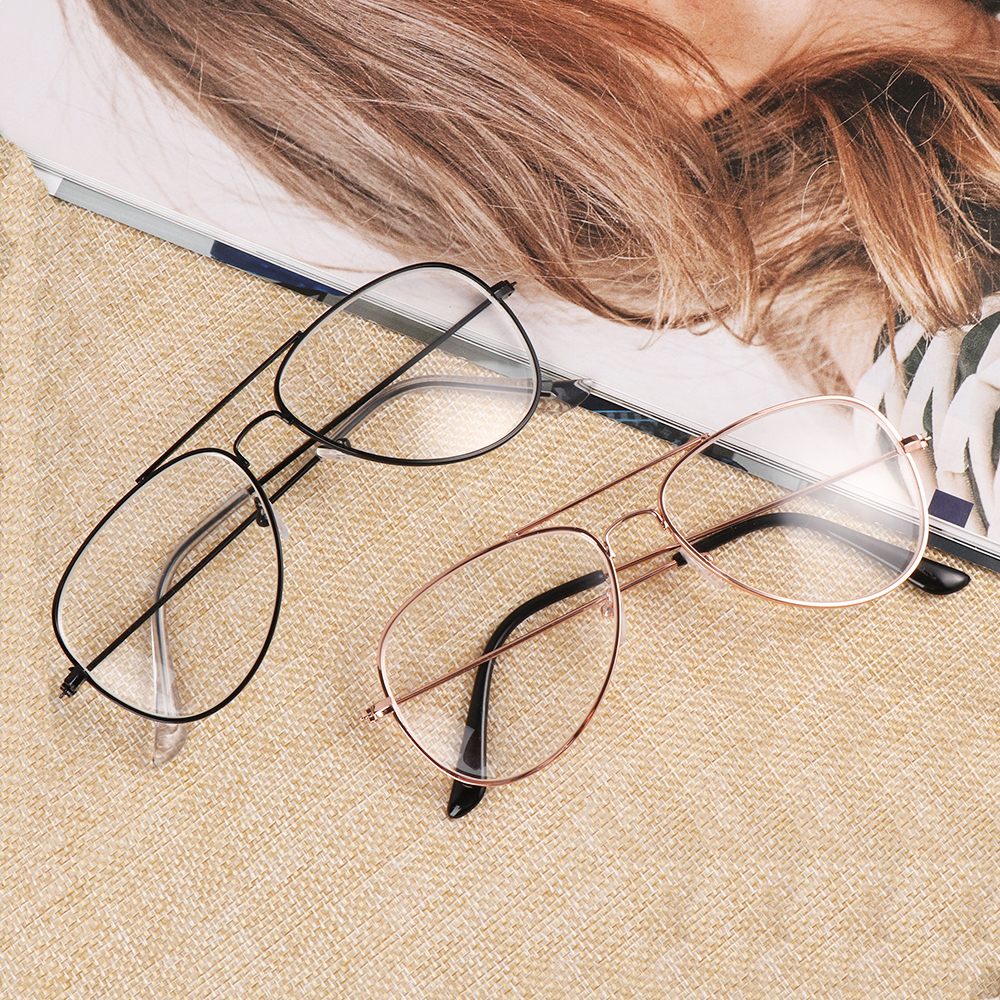 Women Reading Glasses Diopter -1 -1.5 -2 -2.5 -3 -3.5 -4 -4.5 -5 Ultra Light Metal Round Myopia Glasses Nearsighted Eyeglasses