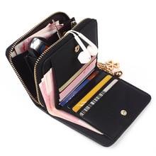 PU Leather Plaid Purse Zipper Small Wallet SF