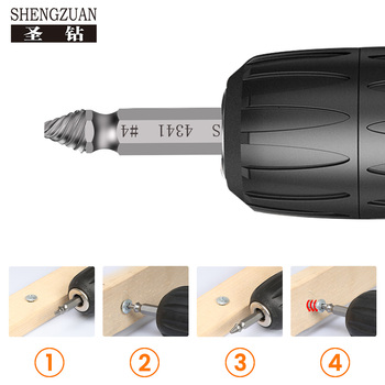 цена на HSS Bit Sleeve High Hardness Screw Out Nut Out Screw Removal Tool Break Screw Out The Bad Screw Power Tools Screwdriver Set 2mm