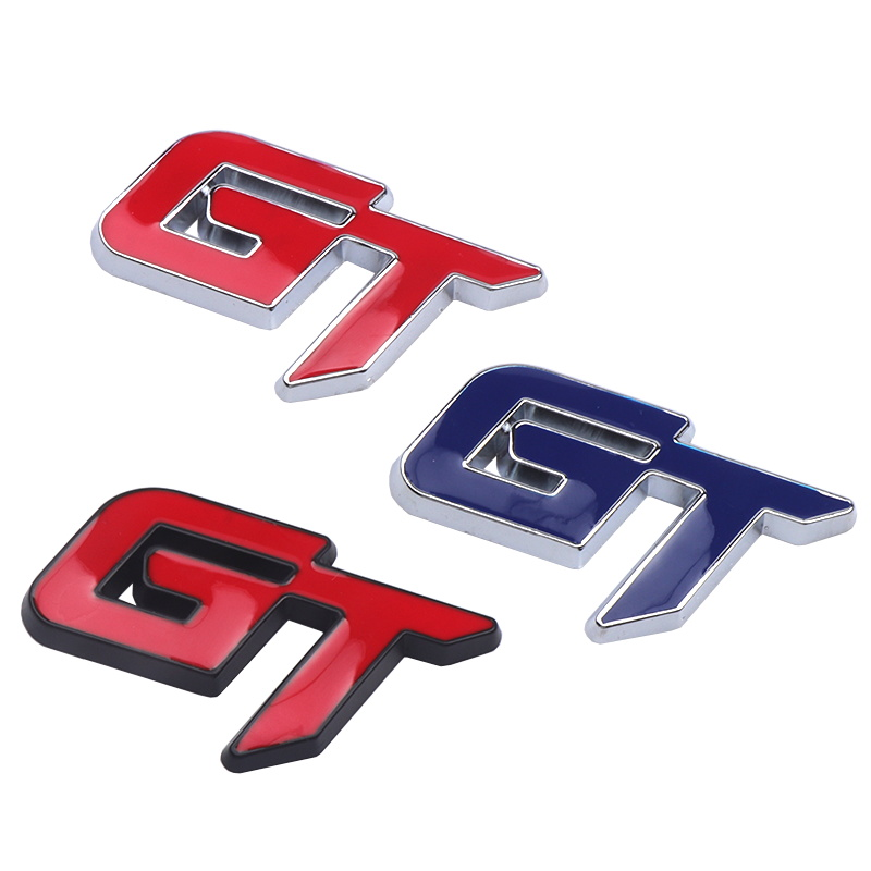 Car Emblem Trunk GT Logo metal stickers Auto Accessories Chrome Badge Decal for ford mustang focus 2 3 fiesta ranger mondeo mk2