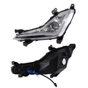 Image 5 - Carro piscando led drl daytime running luz luz de condução luz nevoeiro quadro da lâmpada luz nevoeiro para hyundai elantra avante 2014 2015