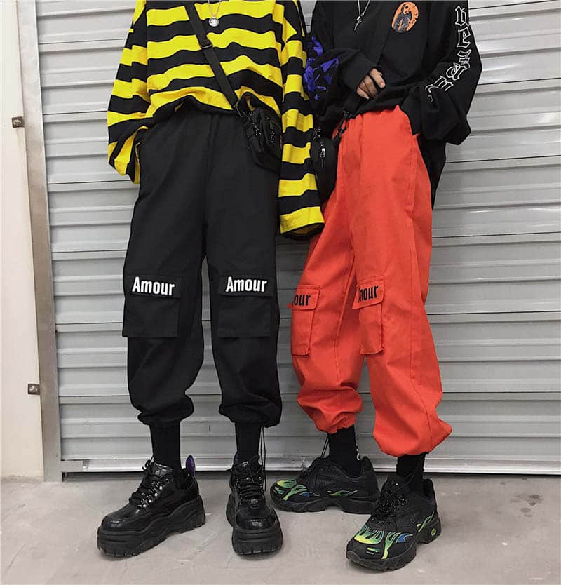Hiphop High Waist Streetwear Section Beam Casual Pants Women Casual Joggers Sweatpants Trousers Loose Female Trousers Korean