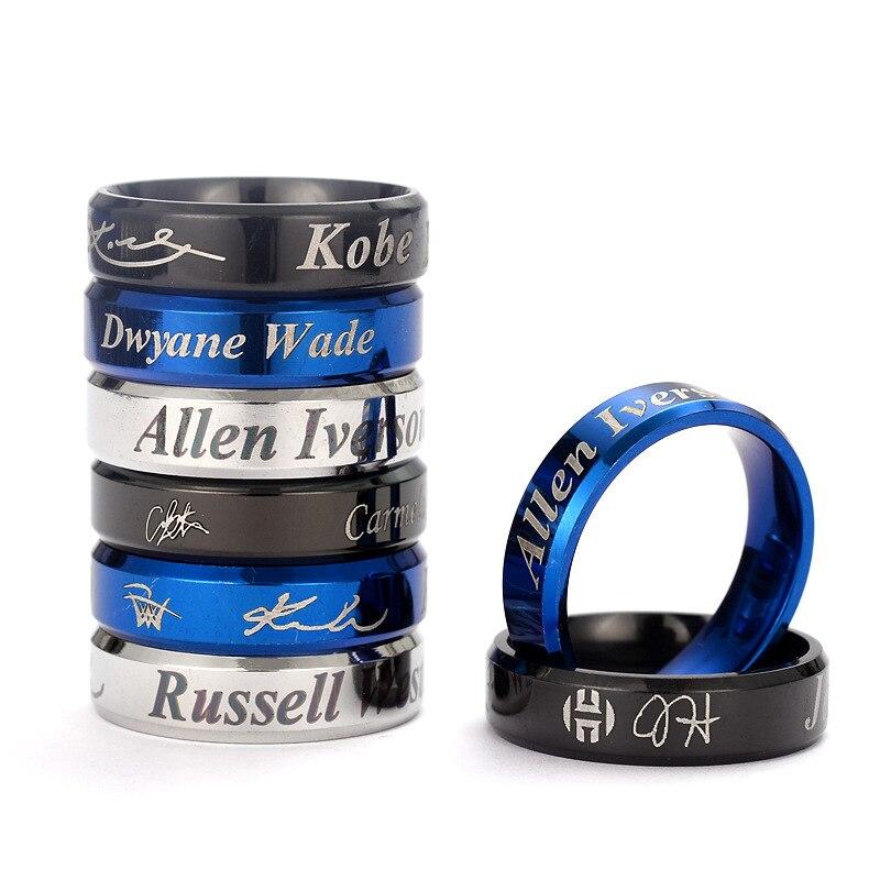Customizable Titanium Steel Ring Owen Harden Curry McGrady Kobe Basketball Ring Europe And America AliExpress Simple Little Fing