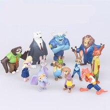 Disney Pixar Zootopia Zootropolis Toy Action Figure Cosplay Nick Wilde Judy Hopps Fox Rabbit Anime PVC toy for children Gift стоимость