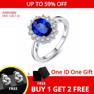 CZCITY Ruby Gemstone Rings Jewelry Emerald Kate Engagement Sapphire Wedding 925-Sterling-Silver