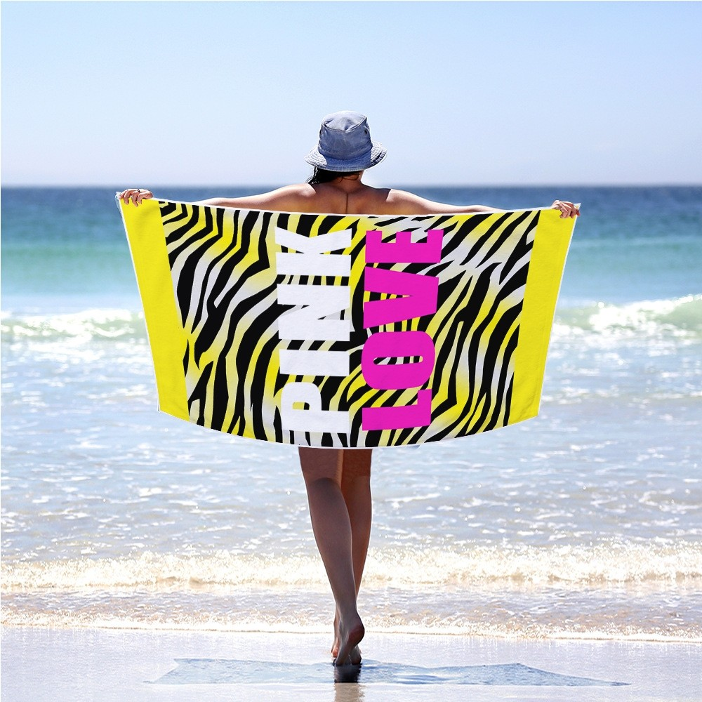 2019 70X150cm Microfiber Full Polyester Bath Towel Letter Printing Sleek Minimalist Can Be Used For Beach Towel Outdoor Mat in Bath Towels from Home Garden