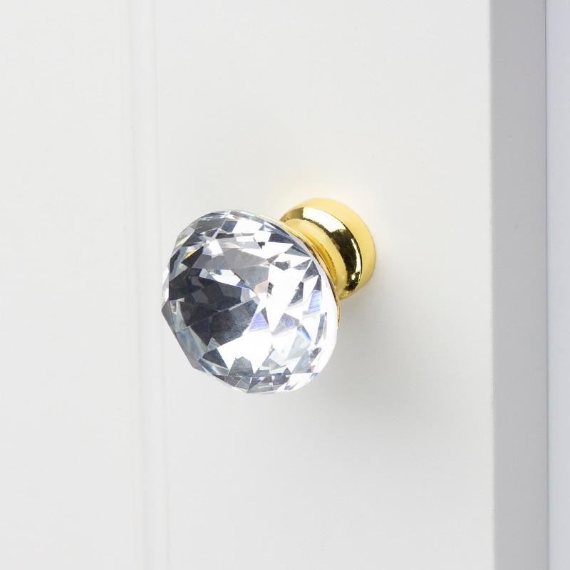 Кухонная мебель, шкаф, дверные ручки, ручка ящика, дверные ручки для шкафа, выдвижной ящик, кристалл с Цинковым Сплавом, хром, золотой цвет Ручки шкафа      АлиЭкспресс