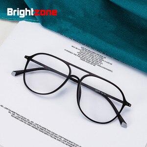 Image 2 - טונגסטן פחמן פלסטיק פלדה שני גשר קוצר ראיה מרשם אופטי משקפיים מסגרת גברים נשים עם הדגמה עדשת Oculos
