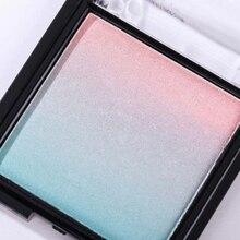 Matte Regenbogen Farbverlauf Lidschatten Transparent Flip Lidschatten-palette Wasserdicht Nicht-Wisch Lidschatten Make-Up Pigment TSLM3