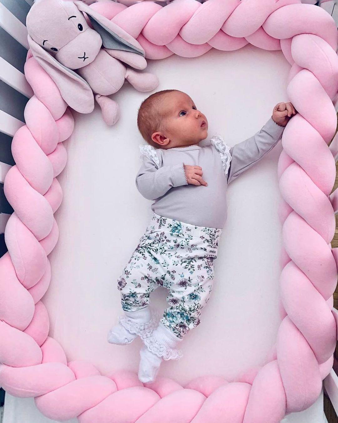 Newborn Trenza Cuna Baby Bed Bumper Knot/Protector Tour De Lit Bebe Tresse Baby Bumper Cot Bumpers In Crib Warkocz Do Lozeczka