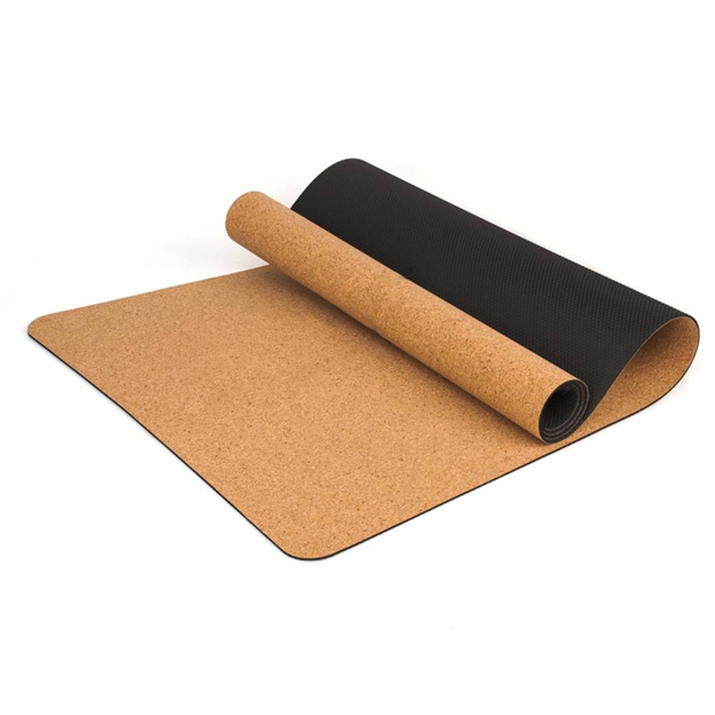 Portable Natural Cork TPE Yoga Mat Women Fitness Gym Sports Mats Pilates Non-slip Sweat-absorbent Exercise Pads