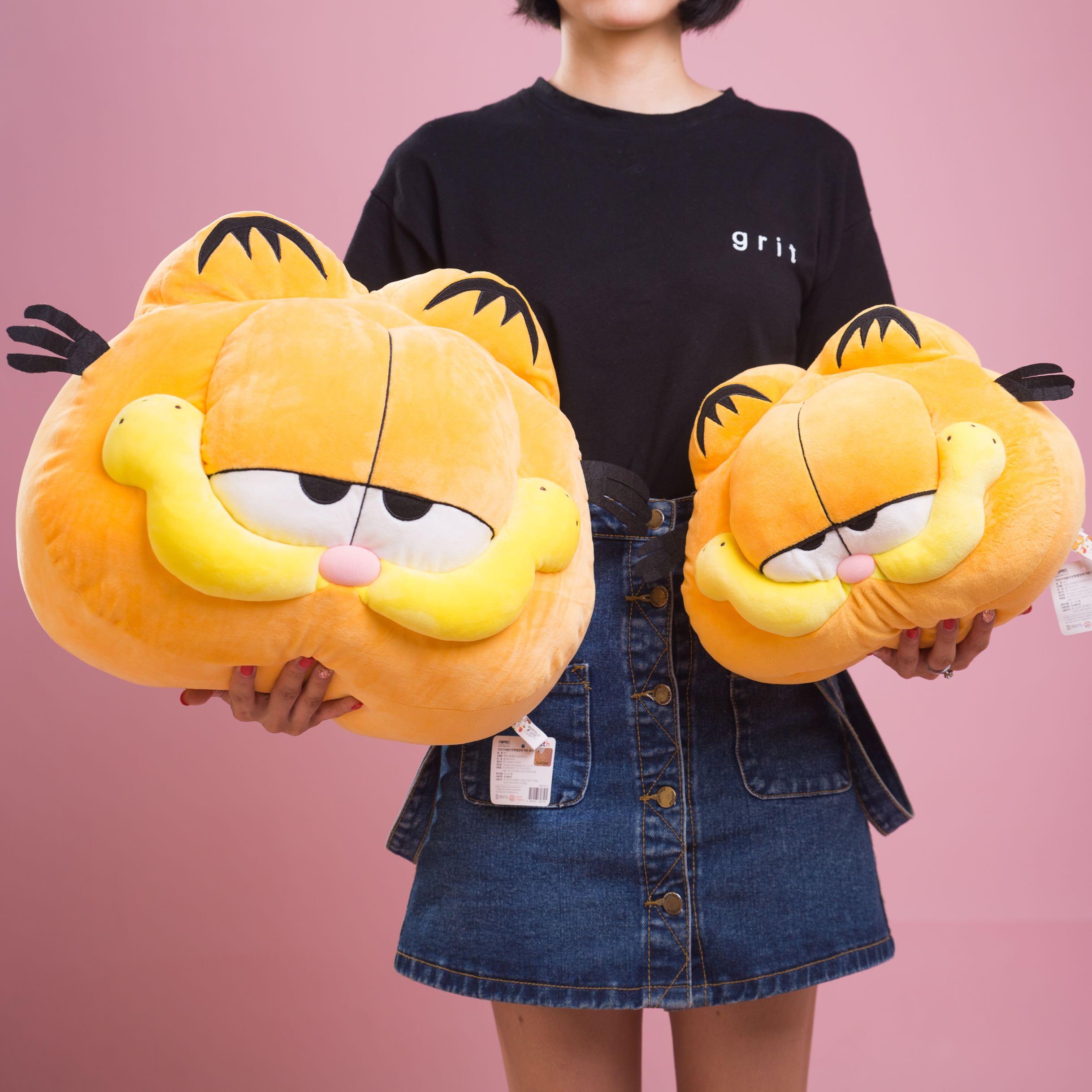 Cat Big Garfield Pet Cat Pillows Shorthair Animals Dolls Pendant Stuffed Plush Keyring, Key Holder Doll Gift Free Shipping