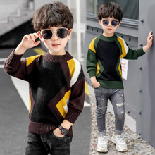 Autumn Winter Boys Sweaters Kids Fleece Pullover Outerwear Boys Cotton Thicken Sweater Christmas Children Clothes Knitwear Tops недорого